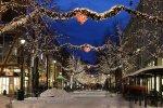 zimowa uliczka - fototapeta